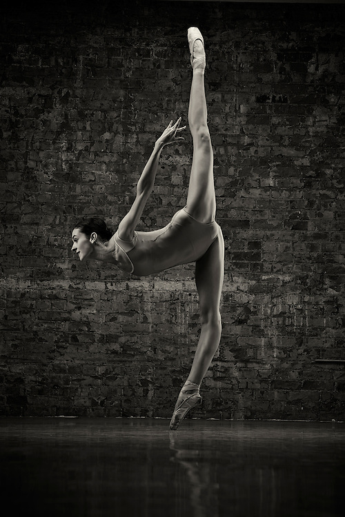 Black and White Dance As Art Photography with ballerina