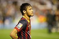 F.C. Barcelona´s Neymar Jr after losing the Spanish Copa del Rey `King´s Cup´ final soccer match between Real Madrid and F.C. Barcelona at Mestalla stadium, in Valencia, Spain. April 16, 2014. (ALTERPHOTOS/Victor Blanco)