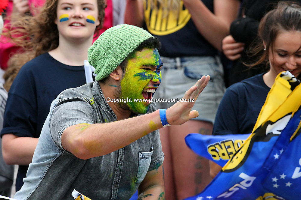 Supporters in the Zoo at the Super Rugby match between the Highlanders and Blues, Forsyth Barr Stadium, Dunedin, New Zealand, Saturday, February 22, 2014. Photo: Dianne Manson / photosport.co.nz