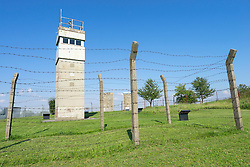 Guard tower at former East German border at Schlagsdorf in Germany
