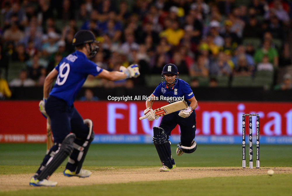 James Taylor (ENG) not out on 99<br /> Australia vs England / Match 2<br /> 2015 ICC Cricket World Cup / Pool A<br /> MCG / Melbourne Cricket Ground <br /> Melbourne Victoria Australia<br /> Saturday 14 February 2015<br /> &copy; Sport the library / Jeff Crow