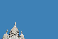 Elevated view of Sacre Coeur in Paris