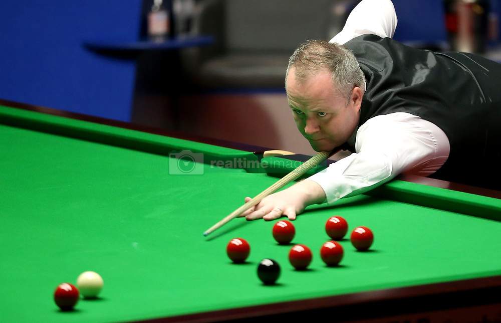 John Higgins on day seventeen of the Betfred Snooker World Championships at the Crucible Theatre, Sheffield. PRESS ASSOCIATION Photo. Picture date: Monday May 1, 2017. See PA story SNOOKER World. Photo credit should read: Steven Paston/PA Wire