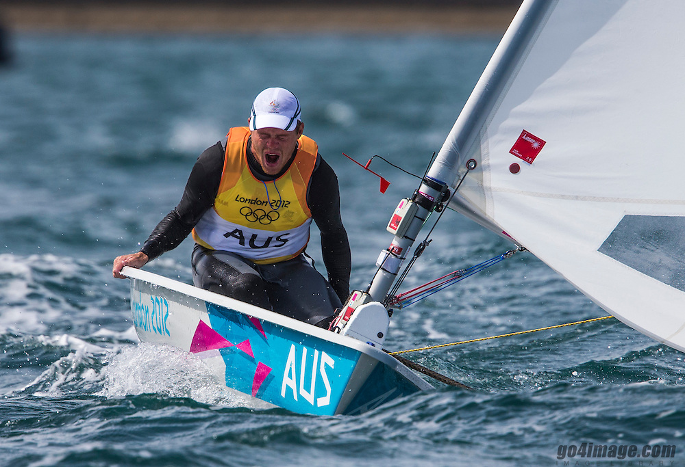 GOLD<br /> Slingsby Tom, (AUS, Laser)<br /> <br /> 2012 Olympic Games <br /> London / Weymouth