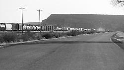 Landscape and Roadway along Historic US Route 66 in Western New Mexico. West of the Continental Divide