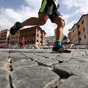 Roma 07/04/2018 <br /> Maratona di Roma 2018 <br /> 24ma edizione<br /> il passaggio a Piazza di Spagna