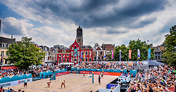 19-07-2018 NED: CEV DELA Beach Volleyball European Championship day 5<br /> Venue Neude Utrecht with the match Netherlands against Germany