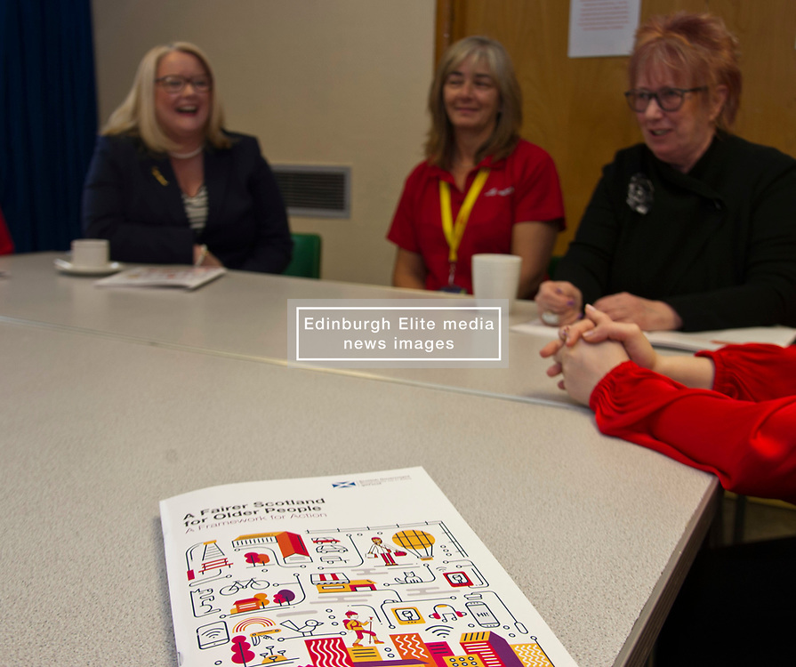 """Pictured: Equalities Minister Christina McKelvie, Vivian Wallace, Aging well co-ordinator for Midlothian, and Christine Grahame met with volunteers<br /> <br /> Equalities Minister Christina McKelvie visited Ladywood Leisure Centre in Penicuik today where she was joined by local MSP Christine Grahame to meet volunteers and participants at the centre as she launched the new framework<br /> <br /> Older people's rights are at the centre of a new framework to ensure people can remain active, keep working if they want to, feel safe, and access the services they need.  The Older People's Framework aims to challenge unwelcome attitudes to and discrimination towards older people. It highlights the positive contributions older people make to our society and the economy, and has been directly influenced by older people who have provided their thoughts, stories and experiences, bringing to life the issues they've faced over the years.<br />  <br /> Speaking at a visit to The Ageing Well Midlothian programme, Older People and Equalities Minister Christina McKelvie said: """"Ageing is inevitable but growing older should not mean having to face barriers or discrimination, and one of the issues the framework addresses is the negative perceptions surrounding ageing. Older people in our society have much to offer and contribute and we are committed to supporting them.  This is why we are funding the celebration of older people at the Festival of Ageing, increasing digital inclusion, promoting fair workplace practices and ensuring we have a housing system which works for an ageing population. This framework is the next part of the journey and I am looking forward to an exciting trip, where we all work together to create the best country to age in.  You only need to look at the Ageing Well project to see the many positive examples of older people enjoying life and bringing joy to their local community. This is what we need to encourage.""""<br /> <br /> <br /> Ger Harley 