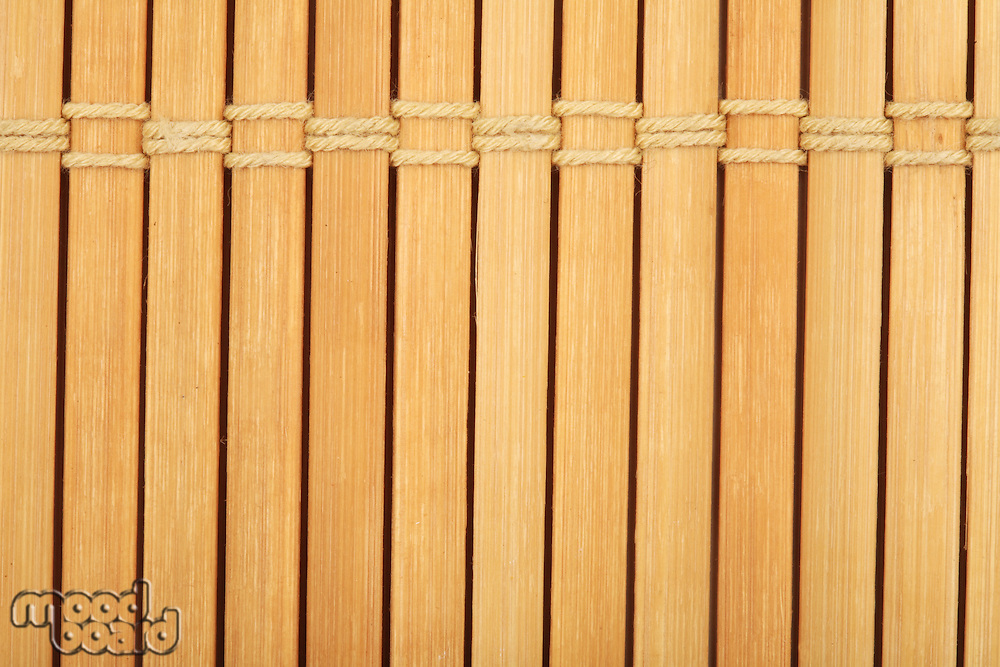 Wooden mat close-up - texture