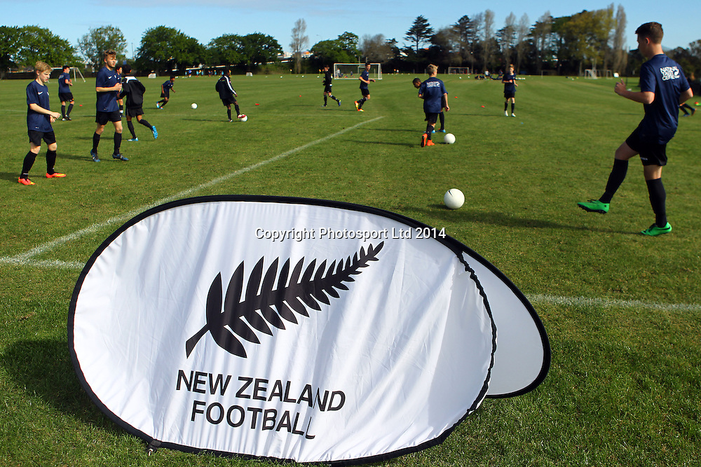 New Zealand Football National Talent Centre , NTC coaching clinic. Kings College, Auckland. 1 October 2014. Photo: William Booth/www.photosport.co.nz