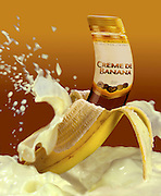 Digitally manipulated Conceptual image of Banana Cream Liquor