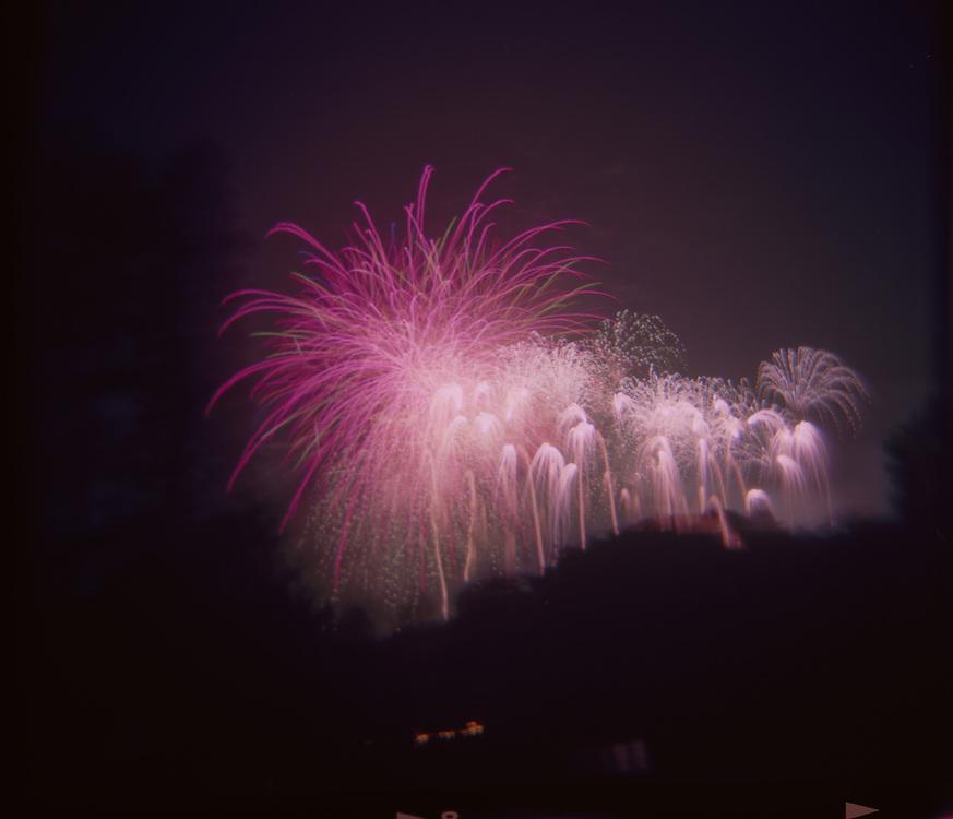 Fireworks display at Disneyland.