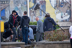 Director Danny Boyle and Ewen Bremner filming Trainspotting2 at Ferry Road, Edinburgh.