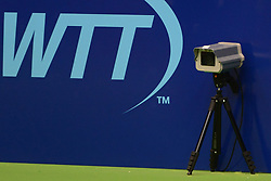 July 21, 2018 - Washington D.C, United States - An electronic device (Hawk-Eye) serving as a lines person in World Team Tennis. (Credit Image: © Christopher Levy via ZUMA Wire)