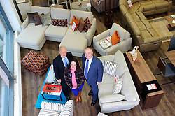 Pictured is, from left, Jonathan Holden, Emma Holden and Yorkshire Bank's Commercial Relationship Manager Michael Pickles <br /> <br /> Nottinghamshire furniture retailer Holdens has upgraded its premises and opened a new 7,000 square foot flagship store with funding support from Yorkshire Bank.  As the same time, Jonathan and Marion Holden are passing the running of the firm to their daughters Emma and Katie who will become the fourth generation to run the company.<br /> <br /> Date: January 22, 2016<br /> Picture: Chris Vaughan/Chris Vaughan Photography