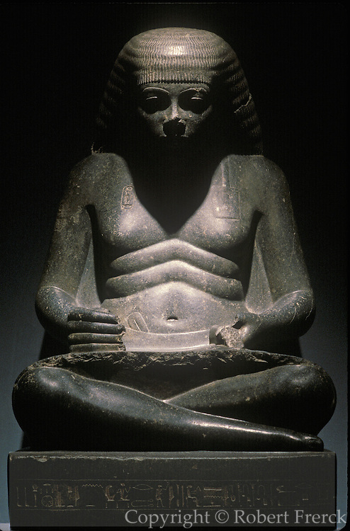 EGYPT, ANCIENT MONUMENTS, LUXOR MUSEUM statue of King Amenophis II depicted as a young scribe from Karnak, c.1400 BC