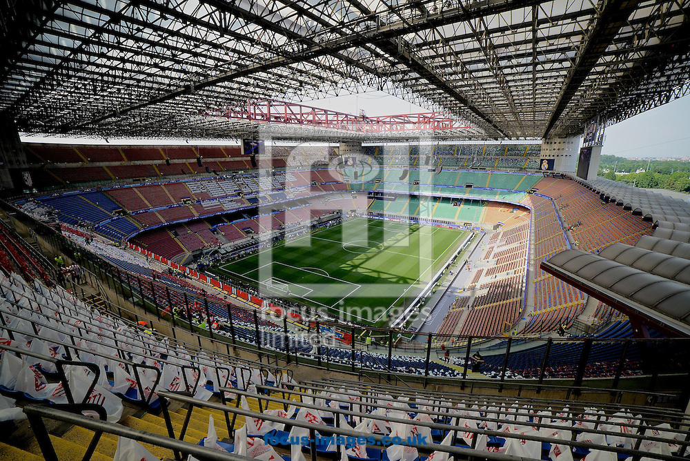 General view of the stadium pictured ahead of the UEFA Champions League Final at San Siro, Milan, Italy.<br /> Picture by Kristian Kane/Focus Images Ltd 07814482222<br /> 28/05/2016