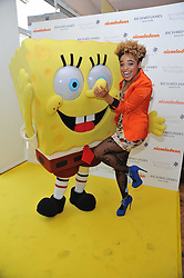 ROX and SpongeBob SquarePants arriving at a party to launch a range of SpongeBob SquarePants suits and accessories designed by Richard James in partnership with Nickelodeon held at Richard James, 29 Savile Row, London W1 on 11th May 2011.
