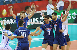 07.09.2014, Krakow Arena, Krakau, POL, FIVB WM, Italien vs USA, Gruppe D, im Bild RADOSC WLOCHY // during the FIVB Volleyball Men's World Championships Pool D Match beween Italy and USA at the Krakow Arena in Krakau, Poland on 2014/09/07. <br /> <br /> ***NETHERLANDS ONLY***
