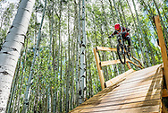 Downhill mountain biking in Snowmass, Colorado.