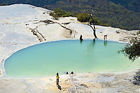 One of the mineral springs at Hierve el Agua, in the mountains of Oaxaca state, Mexico.