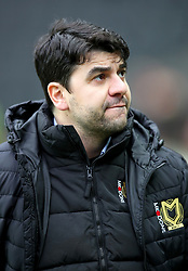 MK Dons manager Dan Micciche during the Emirates FA Cup Fourth Round match