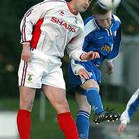 St Johnstone v Inverness Caley Thistle..  04.02.03<br />Roy McBain and Mark Baxter<br /><br />Pic by Graeme Hart<br />Copyright Perthshire Picture Agency<br />Tel: 01738 623350 / 07990 594431