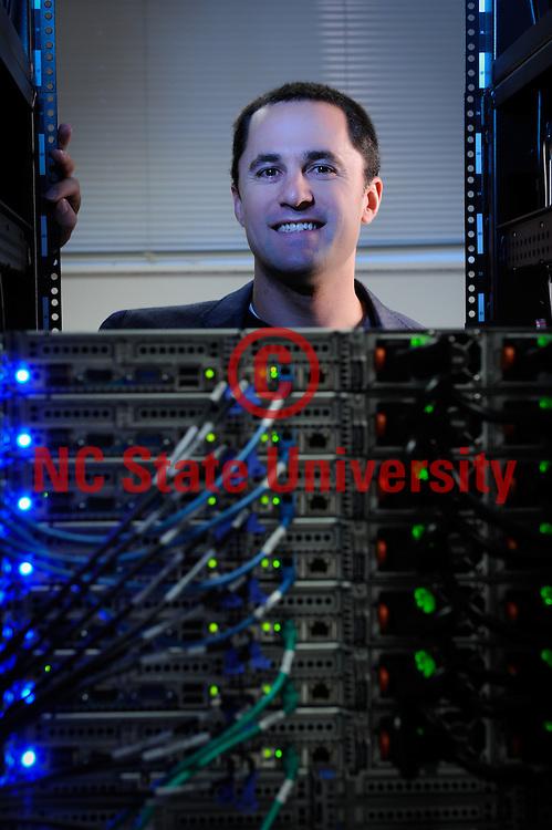 PAMS (COS) professor David Reif. He's in bioinformatics. Photo by Marc Hall