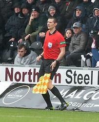 Assistant referee David Mcgeachie  during the Ladbrokes Scottish Premier League match at St Mirren Park, St Mirren.
