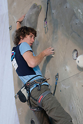 Slovenian climber  Jure Becan at World cup competition in Zlato polje, Kranj, Slovenia, on November 15, 2008.  (Photo by Vid Ponikvar / Sportida)
