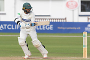 Hassan Azad batting during the Specsavers County Champ Div 2 match between Leicestershire County Cricket Club and Lancashire County Cricket Club at the Fischer County Ground, Grace Road, Leicester, United Kingdom on 26 September 2019.