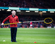 Forwards Coach Robin McBryde of Wales during the pre match warm up<br /> <br /> Photographer Simon King/Replay Images<br /> <br /> Under Armour Series - Wales v Tonga - Saturday 17th November 2018 - Principality Stadium - Cardiff<br /> <br /> World Copyright © Replay Images . All rights reserved. info@replayimages.co.uk - http://replayimages.co.uk