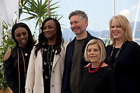 Producers Rayah Houston,  Pat Houston, director Kevin Macdonald, producers Lisa Erspamer and Nicole David at the Whitney film photo call at the 71st Cannes Film Festival, Thursday 17th May 2018, Cannes, France. Photo credit: Doreen Kennedy