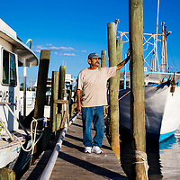 10/28/14 5:47:10 PM -- Cortez, FL, U.S.A  -- John Yates, a former commercial fisherman who was convicted under a major federal document-shredding statute for throwing undersized grouper overboard.  --    Photo by Chip J Litherland, Freelance