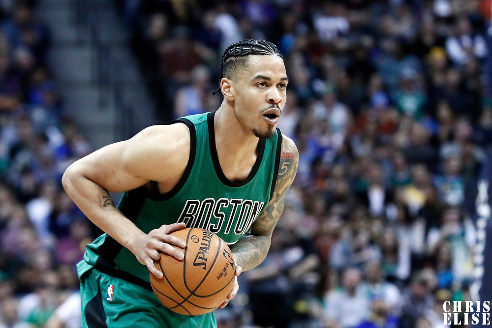 10 March 2017: Boston Celtics forward Gerald Green (30) looks to pass the ball during the Denver Nuggets 119-99 victory over the Boston Celtics, at the Pepsi Center, Denver, Colorado, USA.