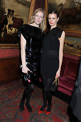 Left to right, JADE PARFITT and JACQUETTA WHEELER at a party hosted by Justine Picardie, Editor-in-Chief of Harper's Bazaar UK and Glenda Bailey, Editor-in-Chief of Harper's Bazaar US to celebrate the end of London Fashion Week and the biggest-ever March issues of Harper's Bazaar, held at Mark's Club, Charles Street, London on 19th February 2013.
