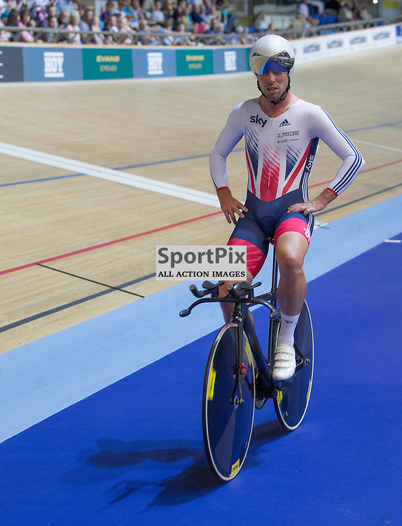 Mark Cavendish, Team GB, after the Men's Omnium Individual Pursuit at the Revoultion Series 2015/6 Round 1 Derby, Day 2, on 15 August 2015 ( (Photo by Mike Poole - Photopoole)