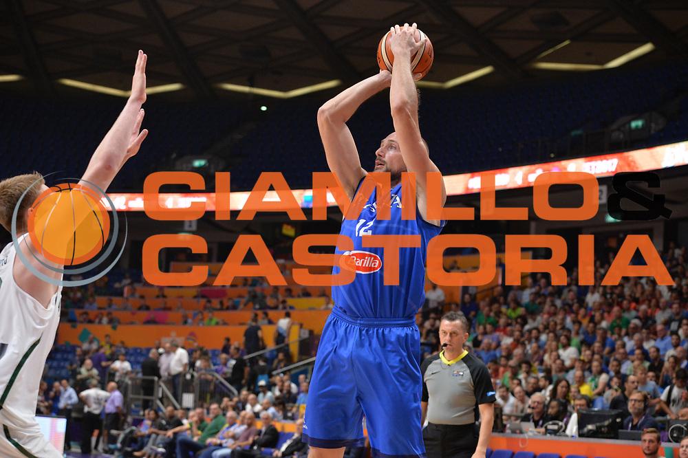 Marco Cusin<br /> Nazionale Italiana Maschile Senior<br /> Eurobasket 2017 - Group Phase<br /> Lituania - Italia<br /> FIP 2017<br /> Tel Aviv, 03/09/2017<br /> Foto Ciamillo - Castoria/ M.Longo