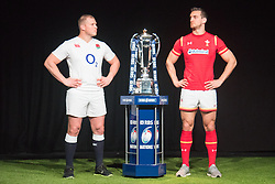 Hurlingham Club, London, January 27th 2016. England Captain Dylan Hartley and Wales Captain Sam Warburton at the launch of the RBS Six Nations Rugby Tornament. ///FOR LICENCING CONTACT: paul@pauldaveycreative.co.uk TEL:+44 (0) 7966 016 296 or +44 (0) 20 8969 6875. ©2015 Paul R Davey. All rights reserved.