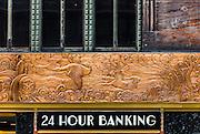 Bronze, Art Deco frieze on the Chanin Building depicts evolution