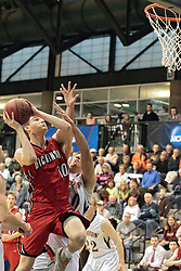 14 March 2014: Ted Hinnenkamp during an NCAA mens division 3 quarter final basketball game between the Dickinson Red Devils and the Wheaton Thunder in Shirk Center, Bloomington IL