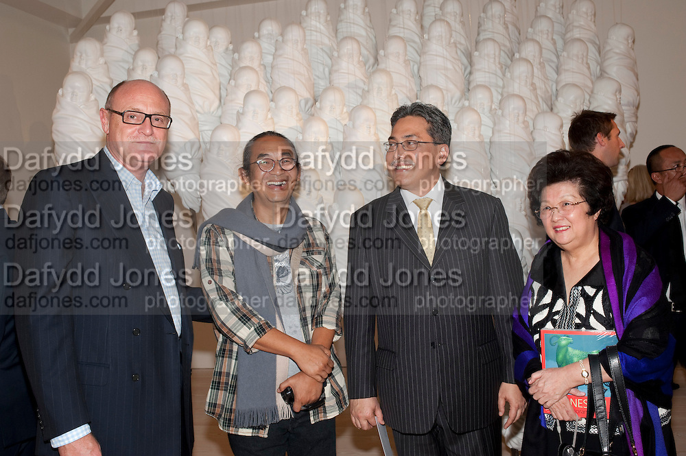 DAVID CICLITIRA; Haris Purnomo; Yuri O Thamrin; Indonesian Ambassador, POPPY HADIMAN,  Indonesian Eye Contemporary Art Exhibition Reception, Saatchi Gallery. London. 9 September 2011. <br /> <br />  , -DO NOT ARCHIVE-© Copyright Photograph by Dafydd Jones. 248 Clapham Rd. London SW9 0PZ. Tel 0207 820 0771. www.dafjones.com.