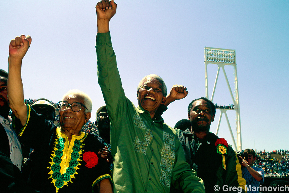 Nelson Mandela Election Campaign, ahead of the first non racial elections in South Africa, Bophuthatswana, 1994