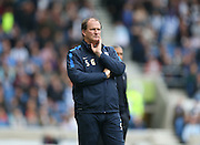 Preston North End manager Simon Grayson during the Sky Bet Championship match between Brighton and Hove Albion and Preston North End at the American Express Community Stadium, Brighton and Hove, England on 24 October 2015.