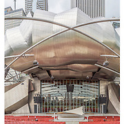 Pritzker Pavillion Chicago Triptych