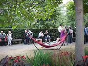 Serpentine Pavilion private view. Kensington Gardens. London. 12 September 2010. -DO NOT ARCHIVE-© Copyright Photograph by Dafydd Jones. 248 Clapham Rd. London SW9 0PZ. Tel 0207 820 0771. www.dafjones.com.