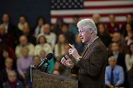 January 4, 2016, Nashua, New Hampshire, United States: President Bill Clinton campaigning for his wife, Hillary Clinton, at Nashua Community College.