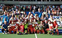 AMSTELVEEN -  Oranje kampioen na  de finale Belgie-Nederland (2-4) bij de Rabo EuroHockey Championships 2017.   COPYRIGHT KOEN SUYK