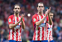 Atletico de Madrid's /Diego Godin and Diego Godin during La Liga match between Atletico de Madrid and Malaga CF at Wanda Metropolitano in Madrid, Spain September 16, 2017. (ALTERPHOTOS/Borja B.Hojas)