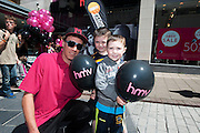 Caelan and Evan Connolly Tipperary at the opening of HMV Galwayat Edward square. Photo:Andrew Downes